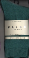 Cashmere Blend Socks - Falke - Kingfisher  46548/7003